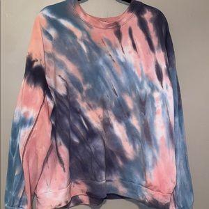 Oversized Crewneck Tye Dye Sweatshirt